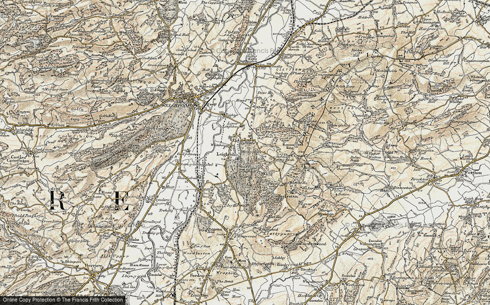 Old Map of Leighton, 1902-1903 in 1902-1903
