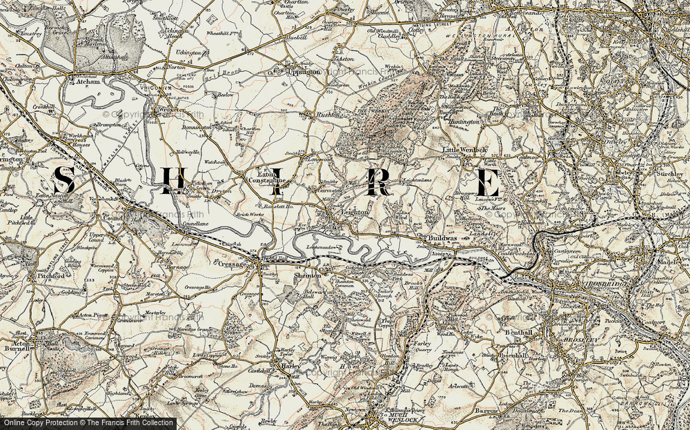 Old Map of Historic Map covering Leechmeadow Cott in 1902
