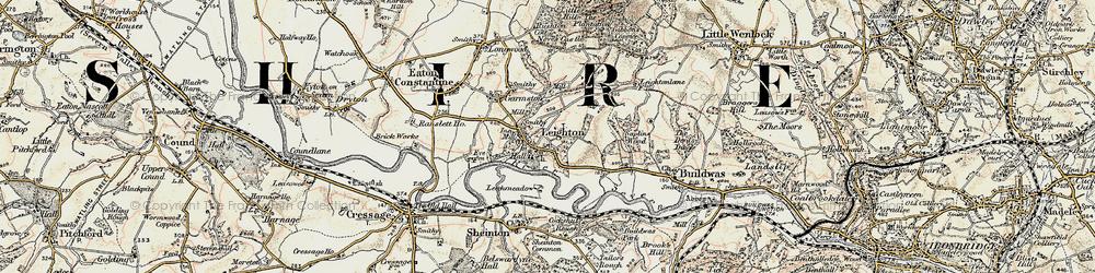 Old map of Leechmeadow Cott in 1902