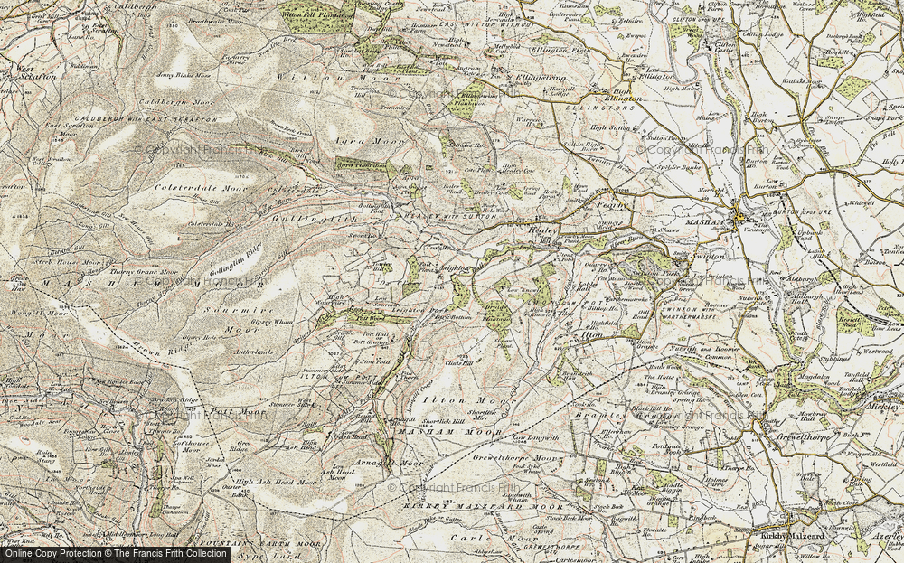 Old Map of Historic Map covering Leighton Resr in 1903-1904