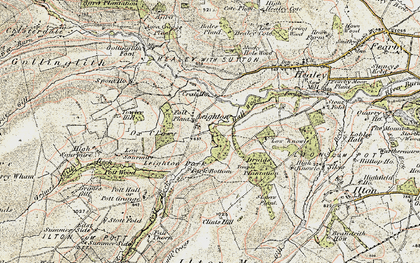 Old map of Leighton Resr in 1903-1904