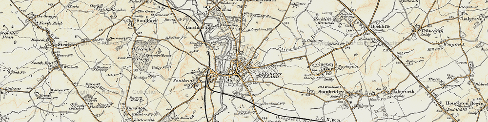 Old map of Leighton Buzzard in 1898-1899