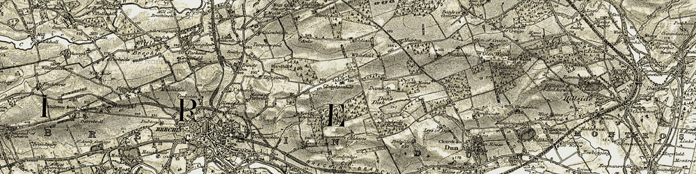 Old map of Leuchland Plantation in 1907-1908