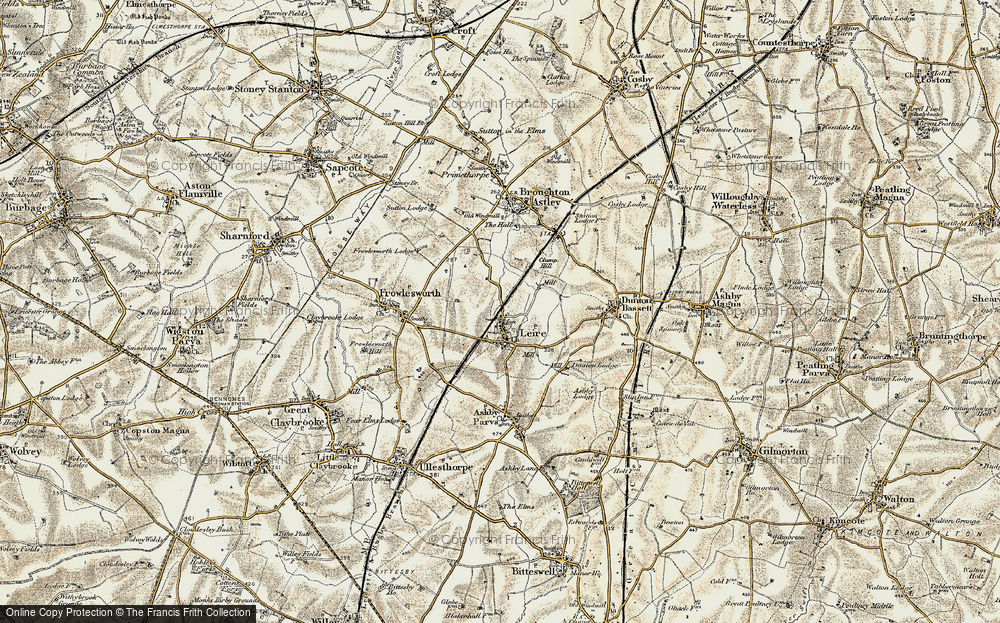 Old Map of Leire, 1901-1902 in 1901-1902