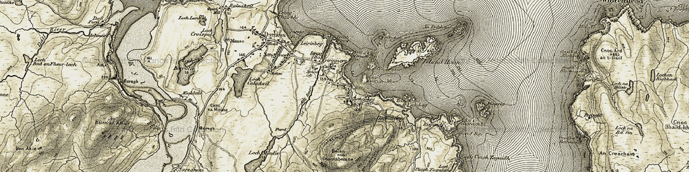 Old map of Leirinmore in 1910