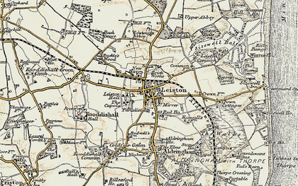 Old map of Leiston in 1898-1901