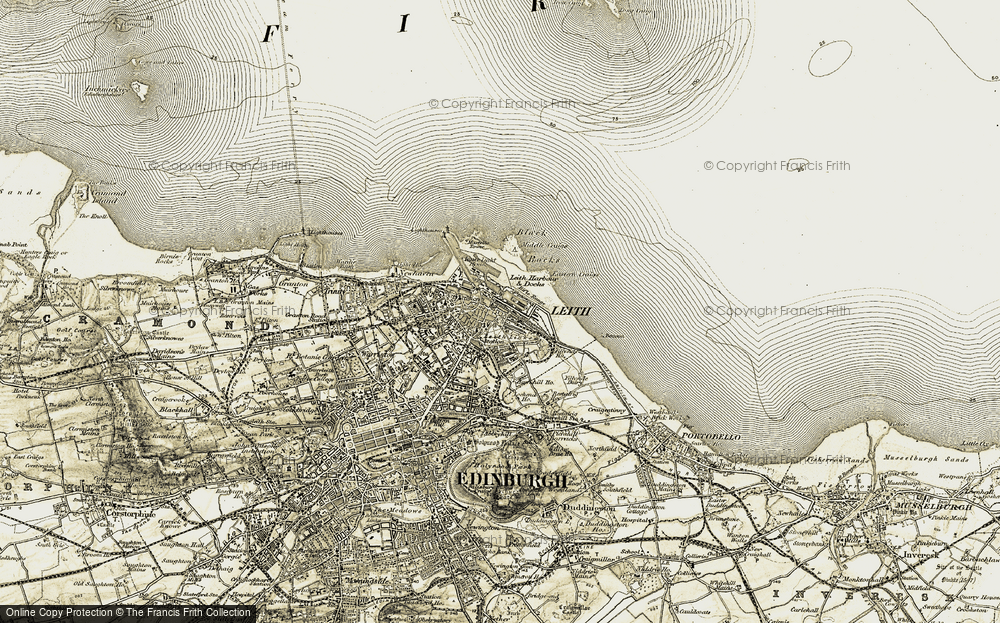 Old Map of Leith, 1903-1906 in 1903-1906