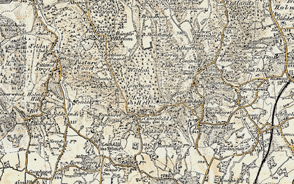 Old map of Leith Hill Place in 1898-1909