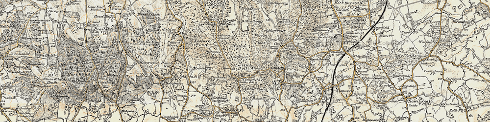 Old map of Leith Hill in 1898-1909