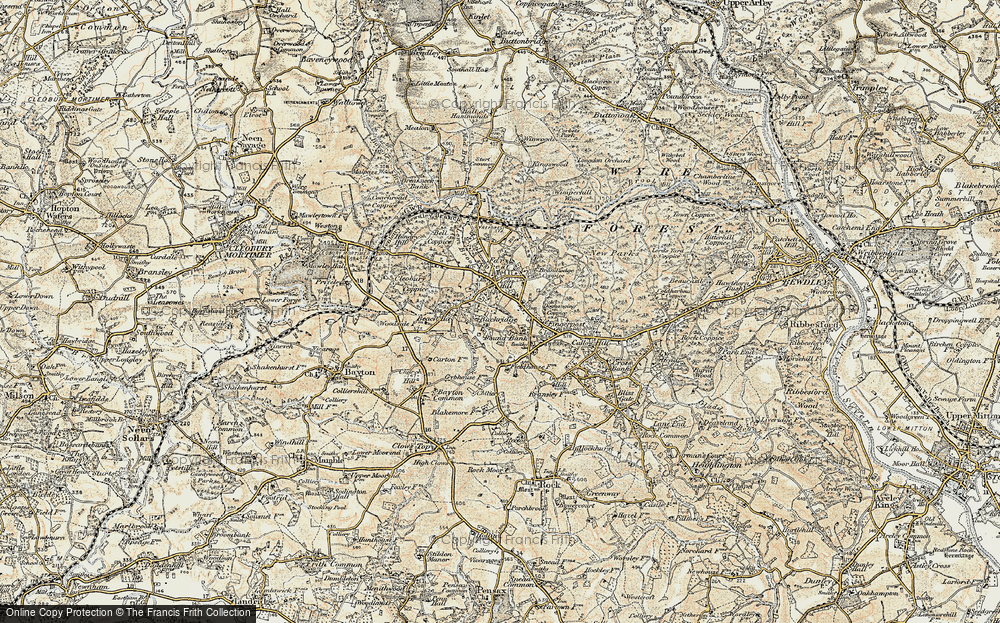 Old Map of Lem Hill, 1901-1902 in 1901-1902
