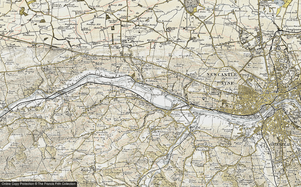 Old Map of Lemington, 1901-1904 in 1901-1904