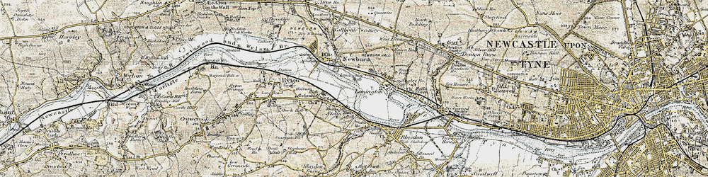 Old map of Lemington in 1901-1904