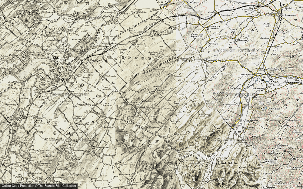 Old Map of Lempitlaw, 1901-1904 in 1901-1904