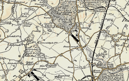 Old map of Lemsford in 1898