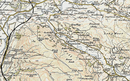 Old map of Lenacre in 1903-1904