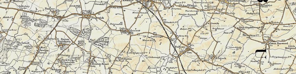 Old map of Lenborough in 1898