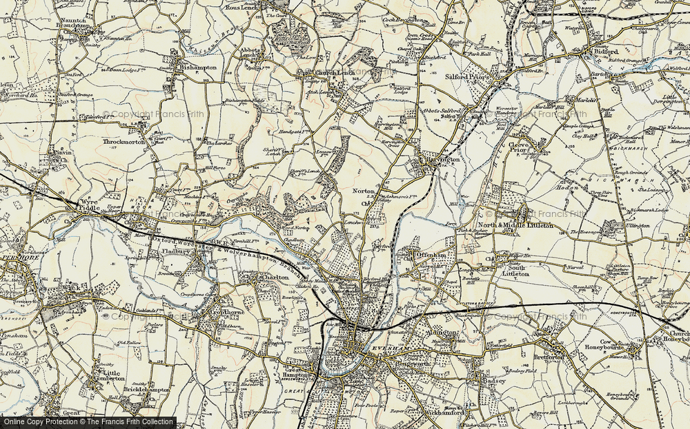 Old Map of Lenchwick, 1899-1901 in 1899-1901