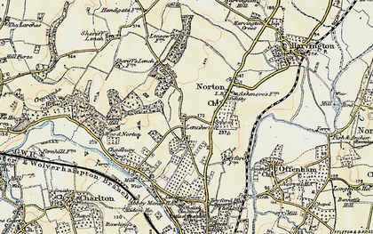 Old map of Lenchwick in 1899-1901
