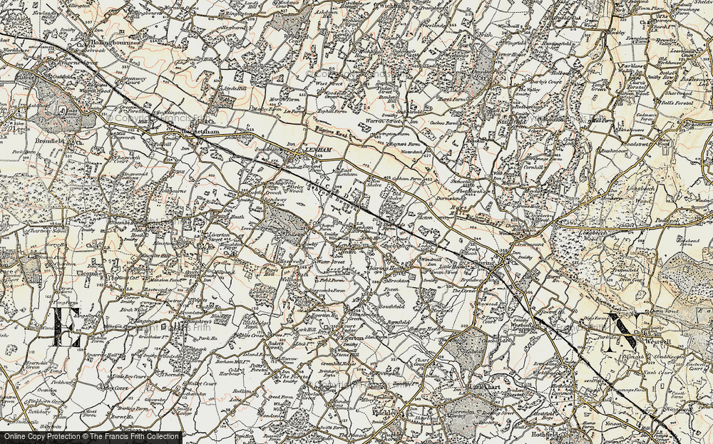 Old Map of Historic Map covering Kent in 1897-1898