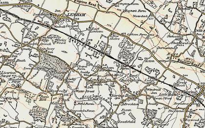 Old map of Lenham Forstal in 1897-1898