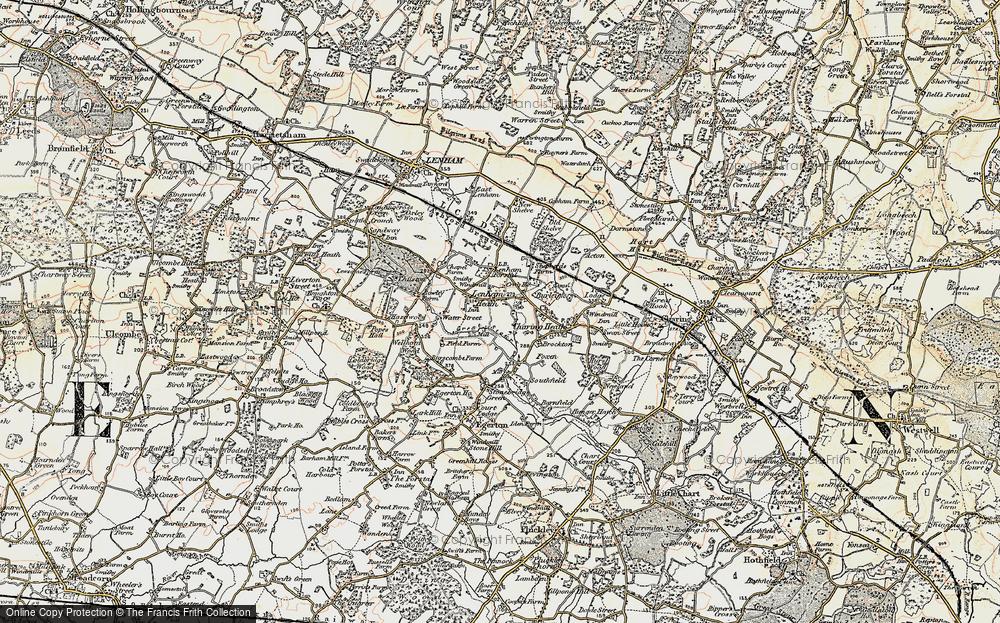 Old Map of Lenham Heath, 1897-1898 in 1897-1898