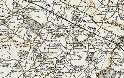 Old map of Lenham Heath in 1897-1898