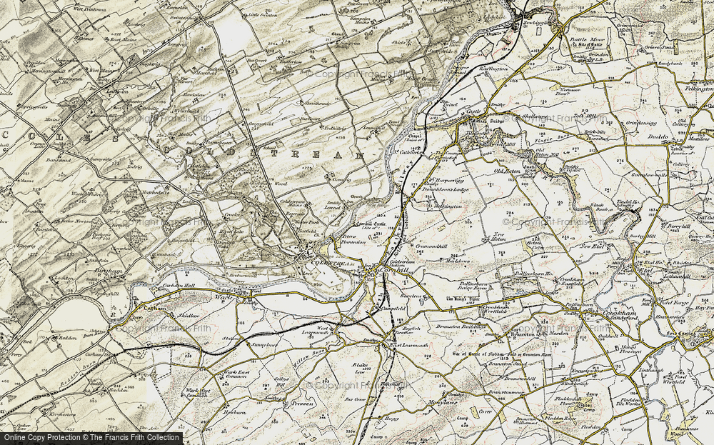 Old Map of Historic Map covering Lennelhill in 1901-1904