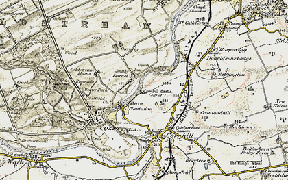 Old map of Lennelhill in 1901-1904
