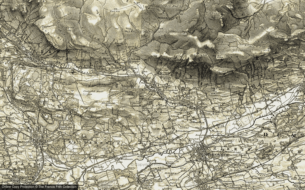 Old Map of Lennoxtown, 1904-1907 in 1904-1907