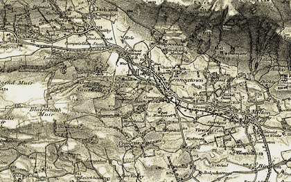 Old map of Lennoxtown in 1904-1907