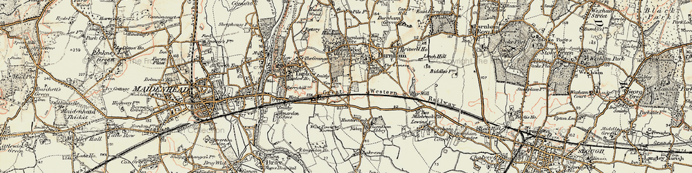 Old map of Lent Rise in 1897-1909