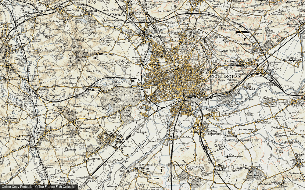 Old Map of Lenton, 1902-1903 in 1902-1903