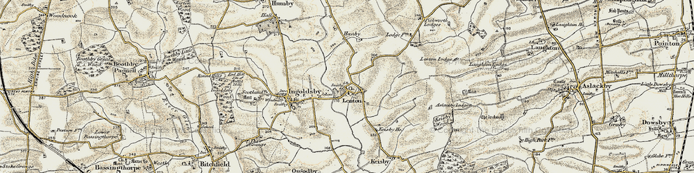 Old map of Lenton in 1902-1903