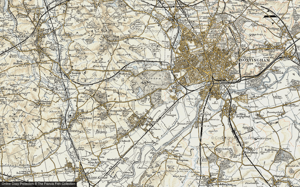 Old Map of Lenton Abbey, 1902-1903 in 1902-1903