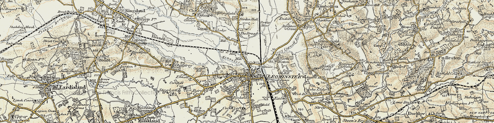 Old map of Leominster in 1900-1902