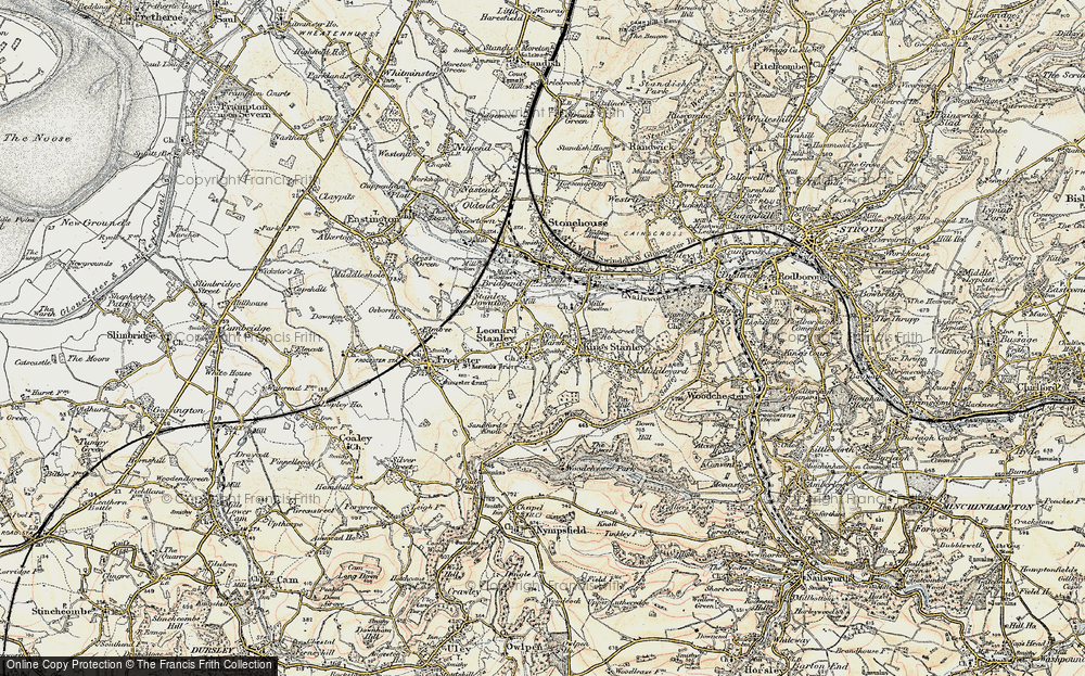 Old Map of Leonard Stanley, 1898-1900 in 1898-1900