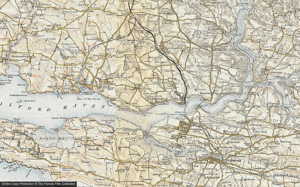 Old Map of Leonardston, 1901-1912 in 1901-1912