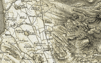 Old map of Arivoichallum in 1905-1906