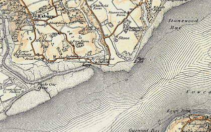 Old map of Lepe Country Park in 1897-1909