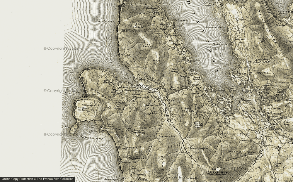 Old Map of Lephin, 1909-1911 in 1909-1911