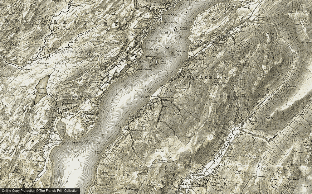Old Map of Lephinmore, 1906-1907 in 1906-1907