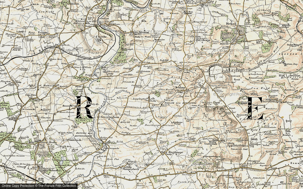 Old Map of Historic Map covering Acklam Wood in 1903-1904