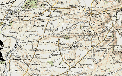 Old map of Leppington Wood in 1903-1904