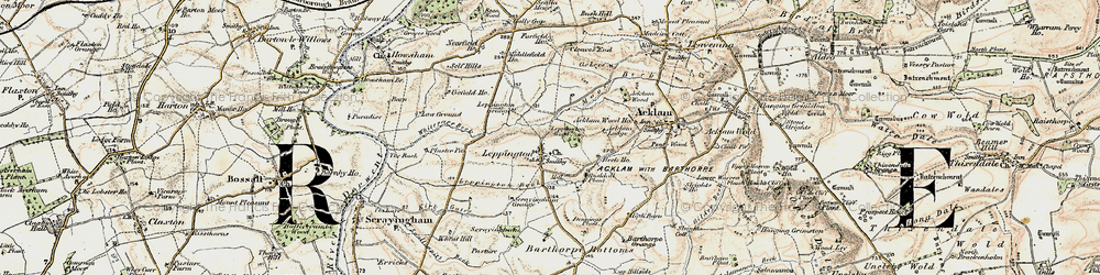 Old map of Acklam Lodge in 1903-1904