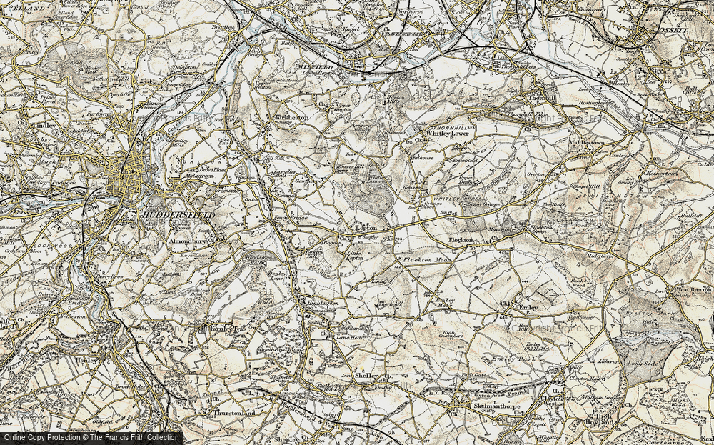 Old Map of Lepton, 1903 in 1903
