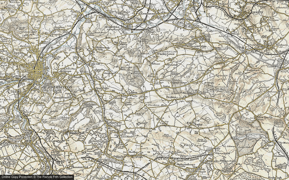 Old Map of Lepton Edge, 1903 in 1903