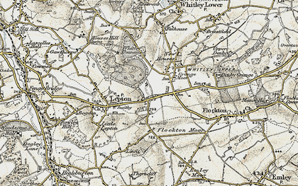 Old map of Lepton Edge in 1903