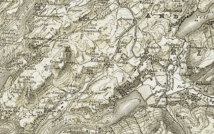 Old map of Allt Criche in 1906-1907
