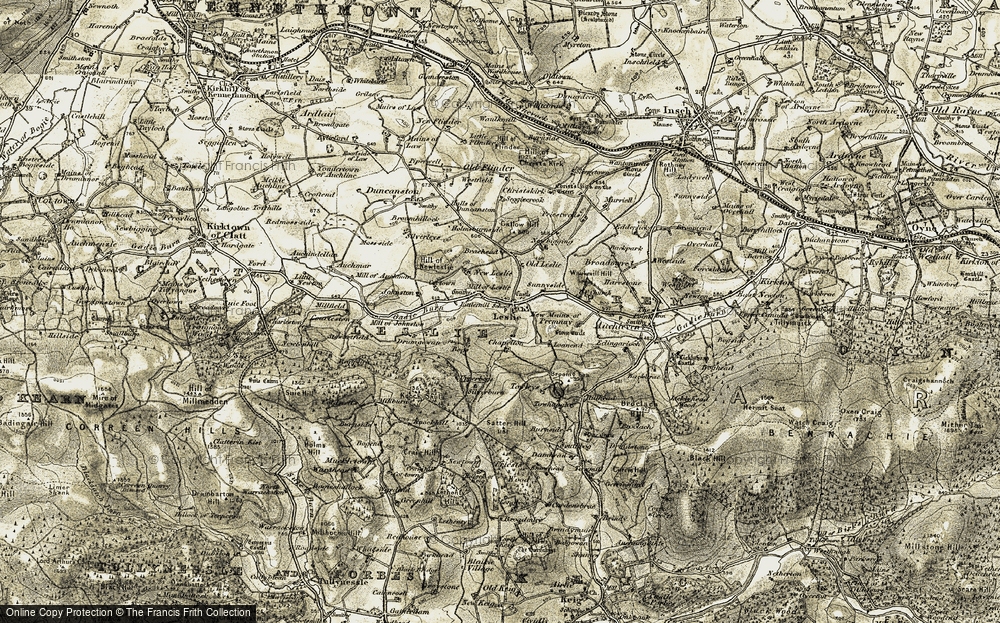 Old Map of Leslie, 1908-1910 in 1908-1910