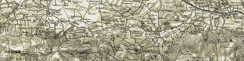 Old map of Leslie in 1908-1910